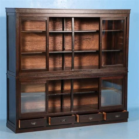 bookcases with sliding glass doors antique japanese bookcase or cabinet with sliding glass