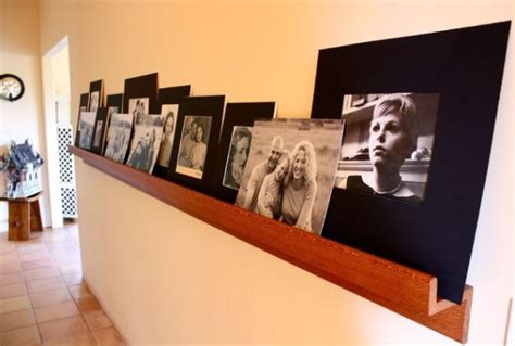 Display Ledge Shelf 25 Stylish Ways Of Displaying Your Family Photos