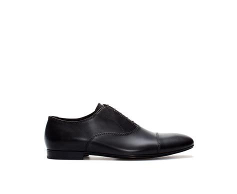 zara oxford shoes zara basic leather oxford shoe in black for lyst