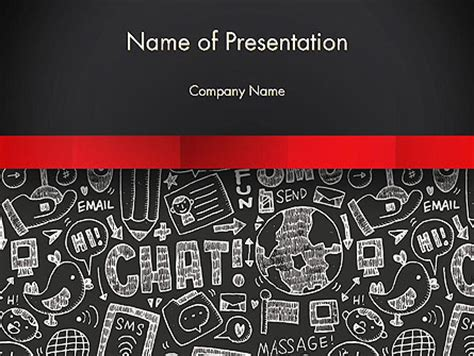 free doodle powerpoint templates related doodles on chalkboard powerpoint template