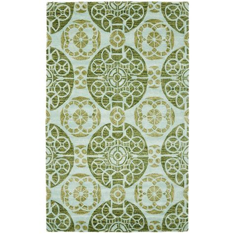 5 x 7 area rug safavieh wyndham turquoise green 5 ft x 8 ft area rug wyd376k 5 the home depot