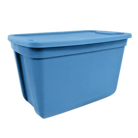 hdx 20 gal storage tote in blue 20g hd the home depot
