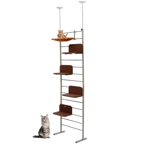 9ft adjustable multi level cat climber climbing tree tower