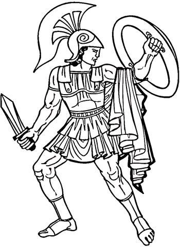 Ancient Greece Vase Ausmalbild Griechischer Krieger Ausmalbilder Kostenlos