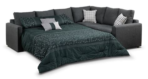 Sectional Sofa With Bed Athina 2 Left Facing Sofa Bed Sectional Charcoal S