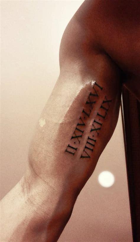 roman numeral tattoo on top of shoulder tattoo ideas