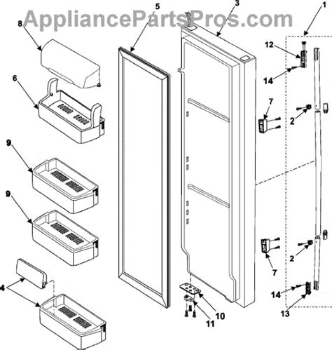 samsung refrigerator parts diagram parts for samsung rs265labp refrigerator door parts