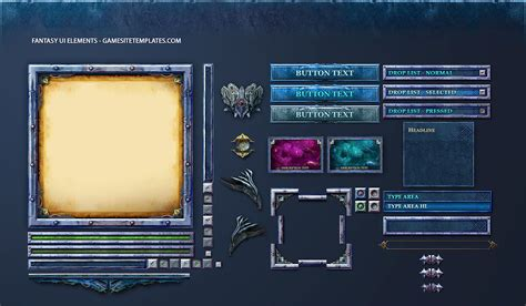 design game gui fantasy game gui game ui design freelancer antonw