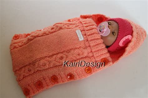 Baby Knitted Sleeping Bag baby doll sleeping bag knitting pattern
