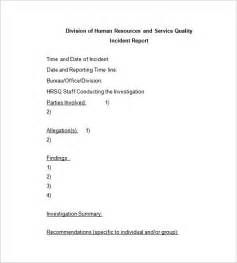 Workplace Accident Report Template incident report template 34 free word pdf format