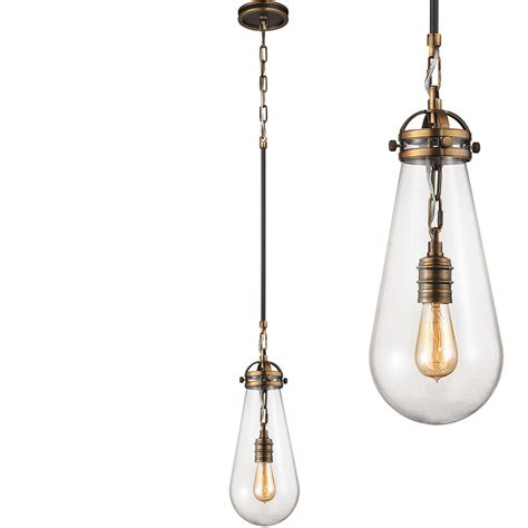 Elk Pendant Lights Elk 67130 1 Gramercy Modern Antique Brass Rubbed Bronze Mini Hanging Pendant Lighting Elk