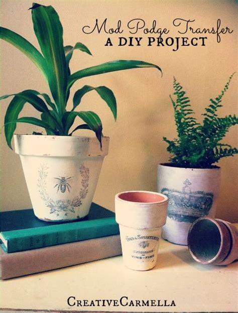 Deko Mit Blumen 2289 by Image Transfer With Mod Podge Shabby Chic Flower Pots