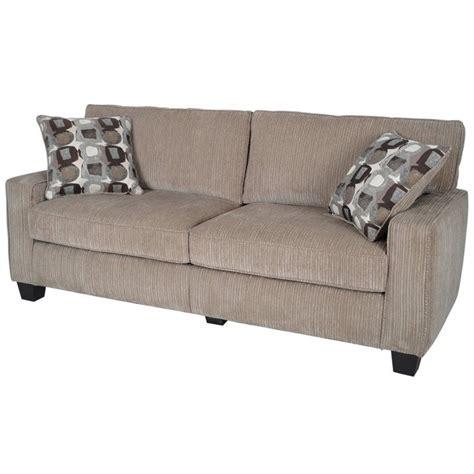 serta couches serta santa cruz sofa in platinum fabric cr43538pb
