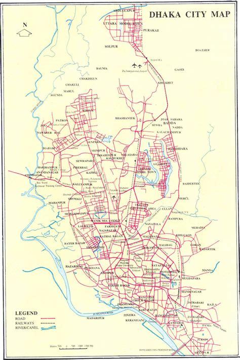 map of dhaka city homeland bangladesh maps of bangladesh mayer dak
