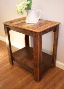Pallet wood side tables pallet furniture diy