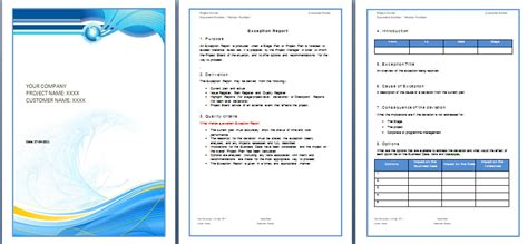 report template word free free business template