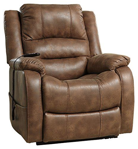 contemporary leather recliner sofa design ashley furniture signature design yandel power lift