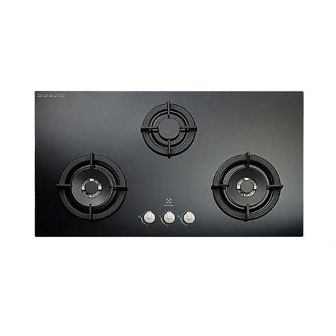 Kompor Gas Tanam Electrolux jual electrolux egt 9637ck kompor tanam gas 3 tungku kaca hitam harga kualitas