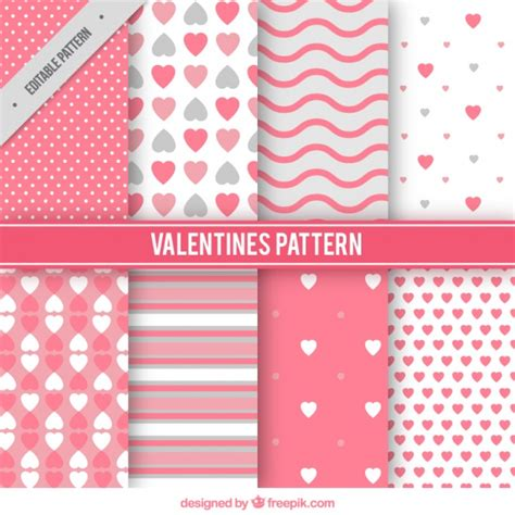valentine pattern vector variety of valentine patterns vector free download