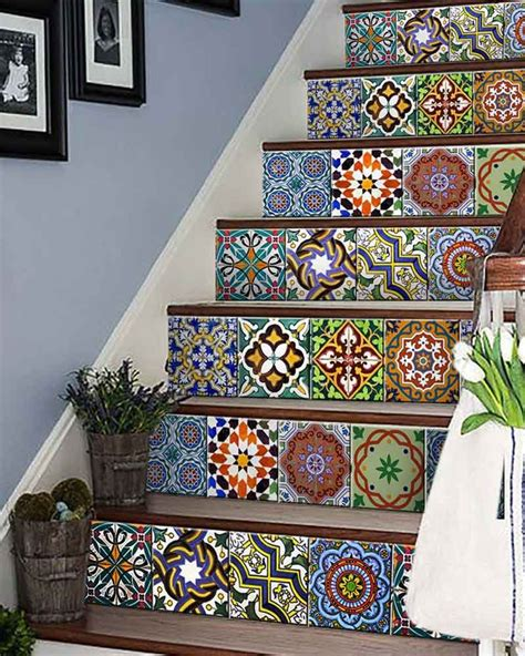 mexican home decorations ab2 set of 24 vintage traditional mexican tiles decals