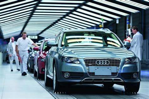audi production line five millionth audi a4 rolls the production line in