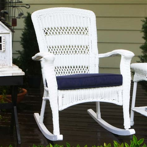 Wicker Rocking Chairs For Porch tortuga outdoor portside plantation wicker rocking chair