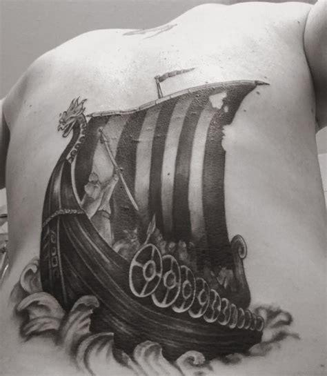 viking longboat tattoo viking ship tattoo timelapse youtube