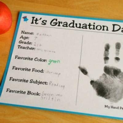 printable graduation gift certificates printable kids graduation certificate with handprint tip