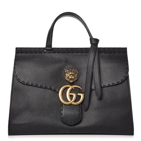 Gucci Positano Medium Top Handle Bag In Black by Gucci Calfskin Medium Gg Marmont Top Handle Bag Black 260412