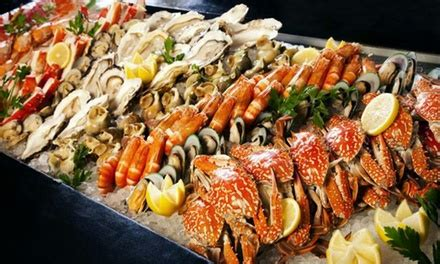 seafood themed buffet taste of marine by the poolside