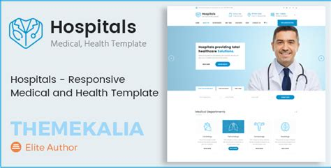 Hospital Website Templates Responsive hospitals responsive and health template nulled