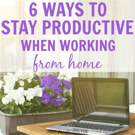 6 ways to stay productive when working from home