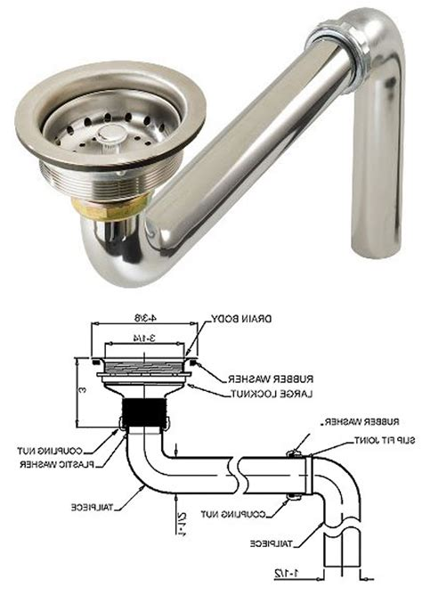 kitchen sink drain parts diagram of plumbing with garbage disposal sink sink