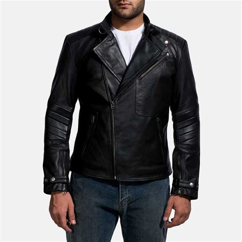 biker jacket mens cirsova black leather biker jacket
