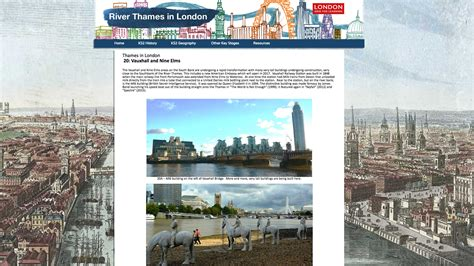thames river ks2 river thames london grid for learning
