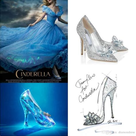 2015 new cinderella glass slipper shoes point