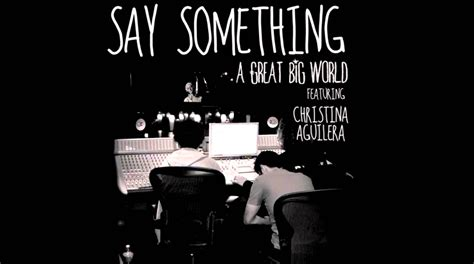 Say Something by A Great Big World Say Something Album Cover Www Imgkid