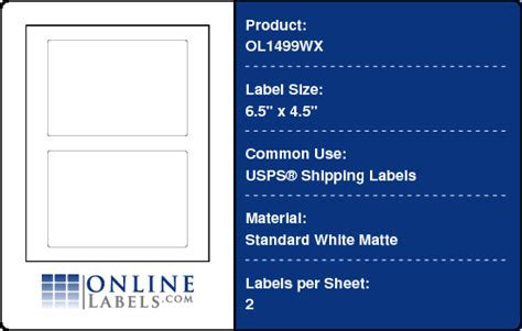 Usps Shipping Label Template Free Skillloadzone Usps Shipping Label Template