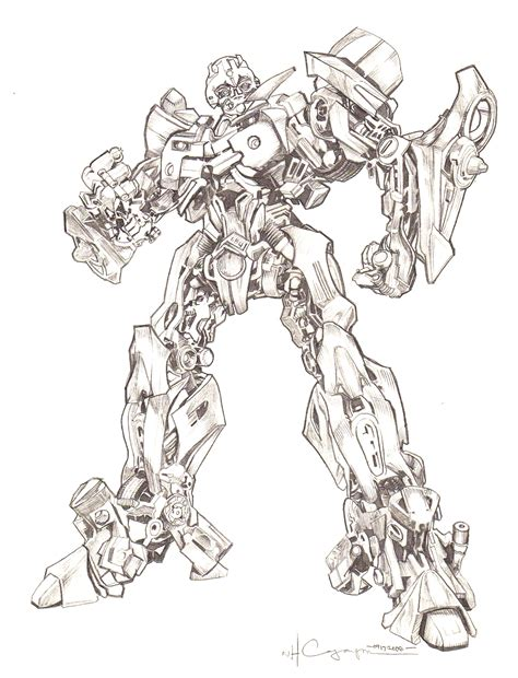 Transformer Sketch Bumblebee Coloriage Transformers Bumblebee L