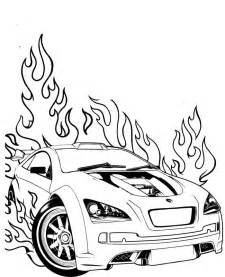 race car coloring pages on fire coloringstar