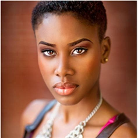 pics of black woman with short natural hair faded and tapered natural short black hairstyles women