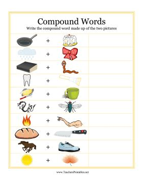 printable compound word games 6 best images of printable blank compound words compound