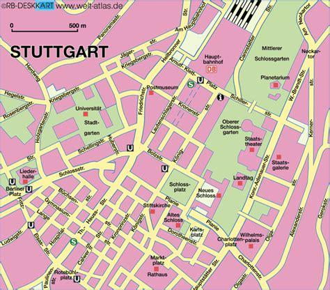 stuttgart map germany map of stuttgart center germany baden wuerttemberg map