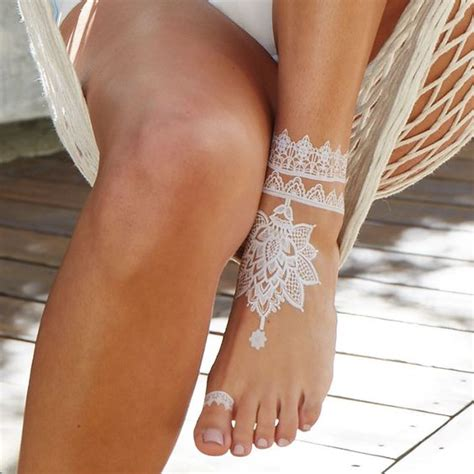 20 jaw dropping white henna tattoos styleoholic