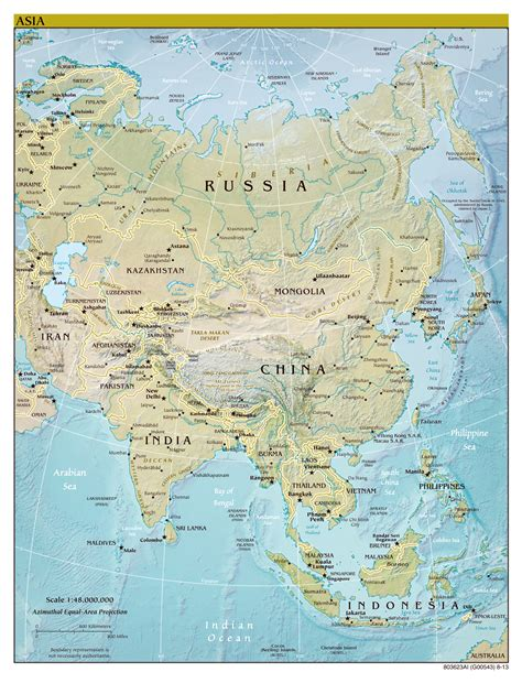 political map of asia with capitals large scale political map of asia with relief major