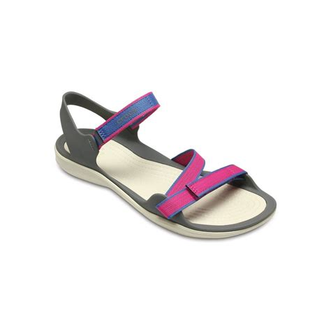 croc womens sandals womens crocs swiftwater sandal pink on sale freight free