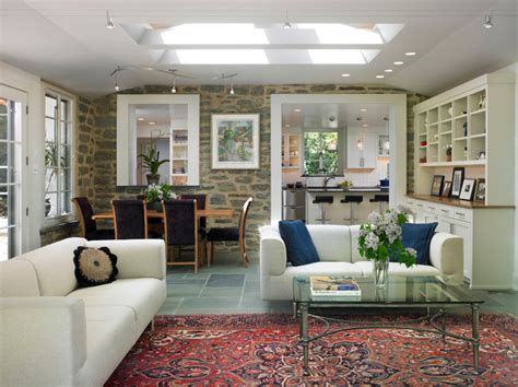 family room additions interior of family room addition eclectic family room philadelphia by krieger