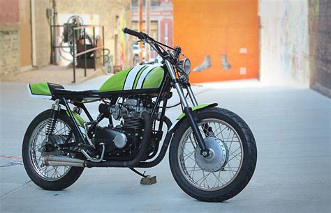 kawasaki kz400 tracker by one15 design bikebound
