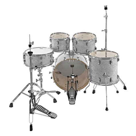 swing drums whd birch 5 piece swing drum kit silver sparkle at