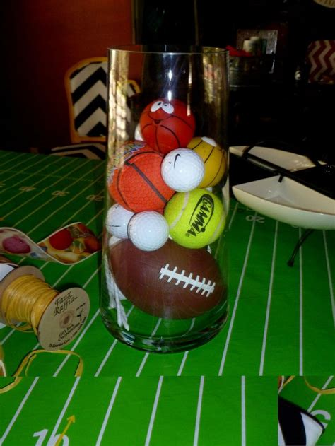 1000 ideas about sports themed centerpieces on